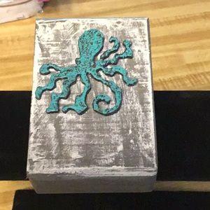 Wood Block Art Octopus